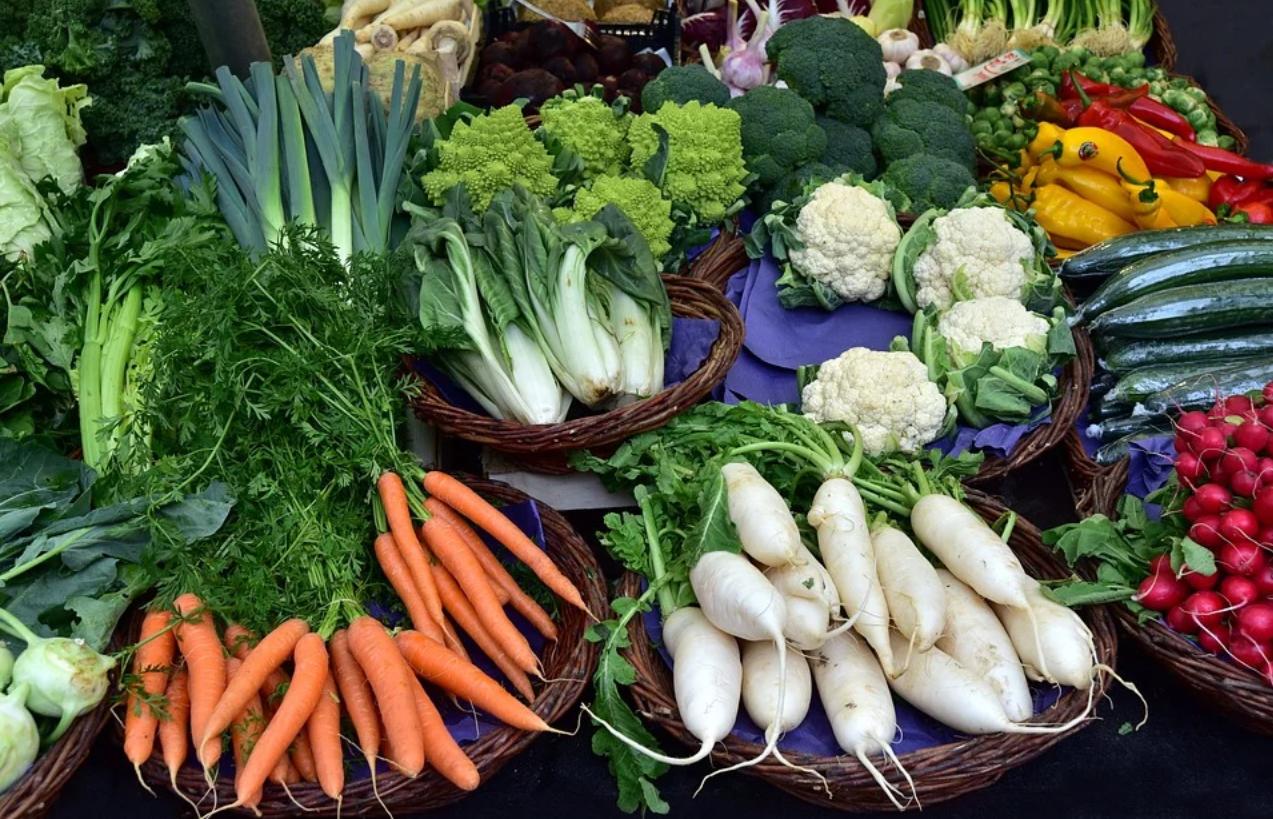 verdura sul mercato