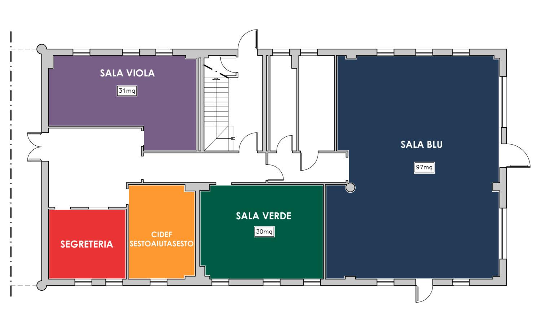 Piantina casa delle Associazioni