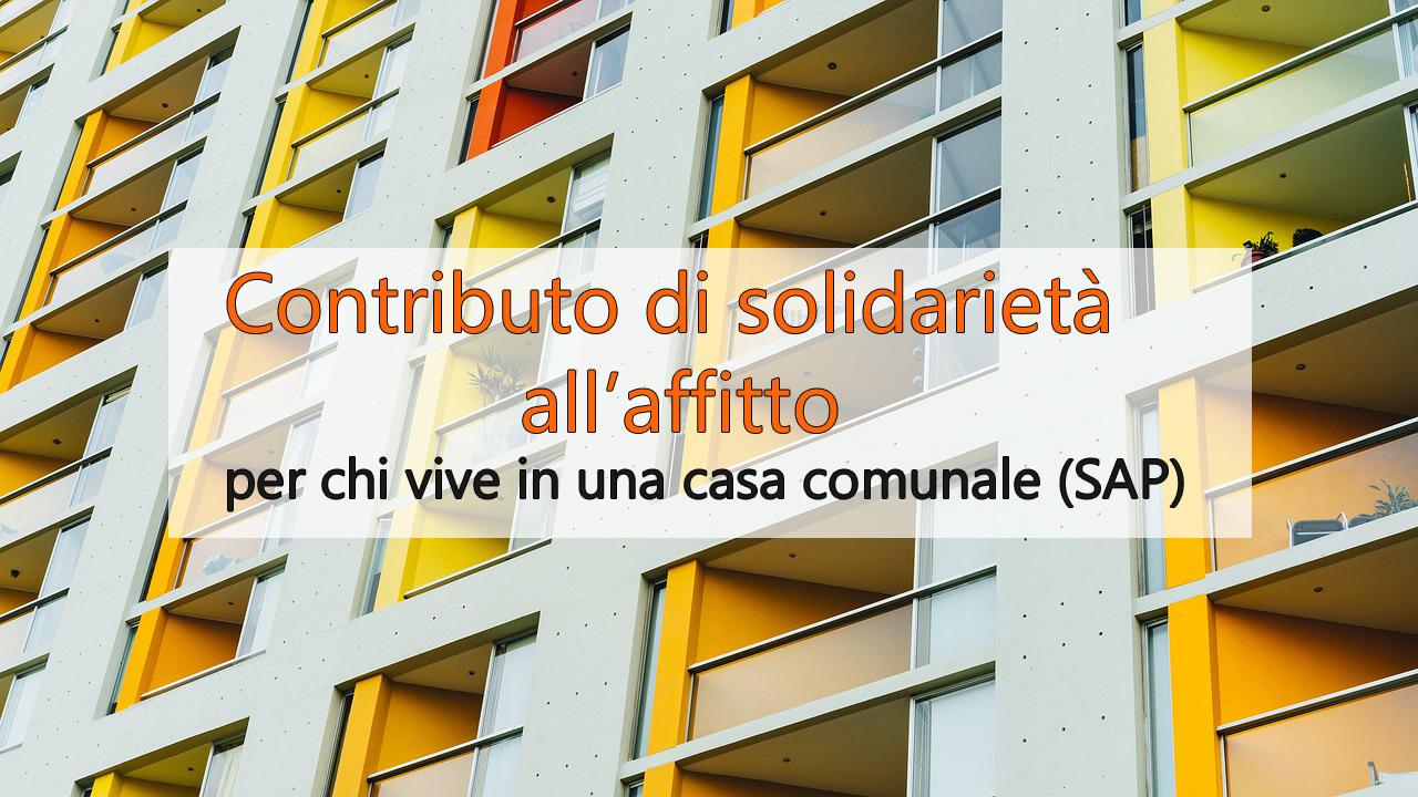 contributo solidarietà all'affitto