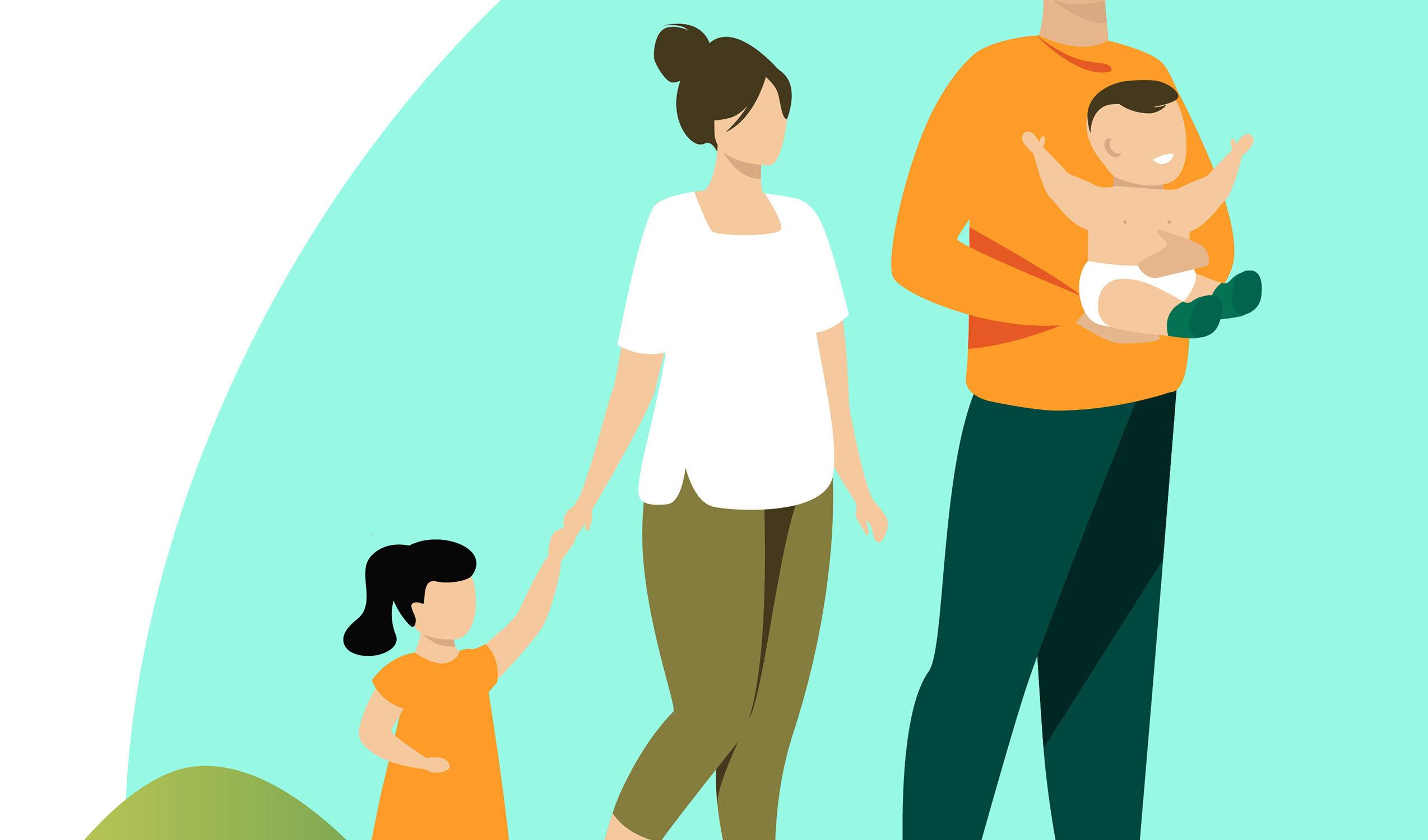 famiglia con minori