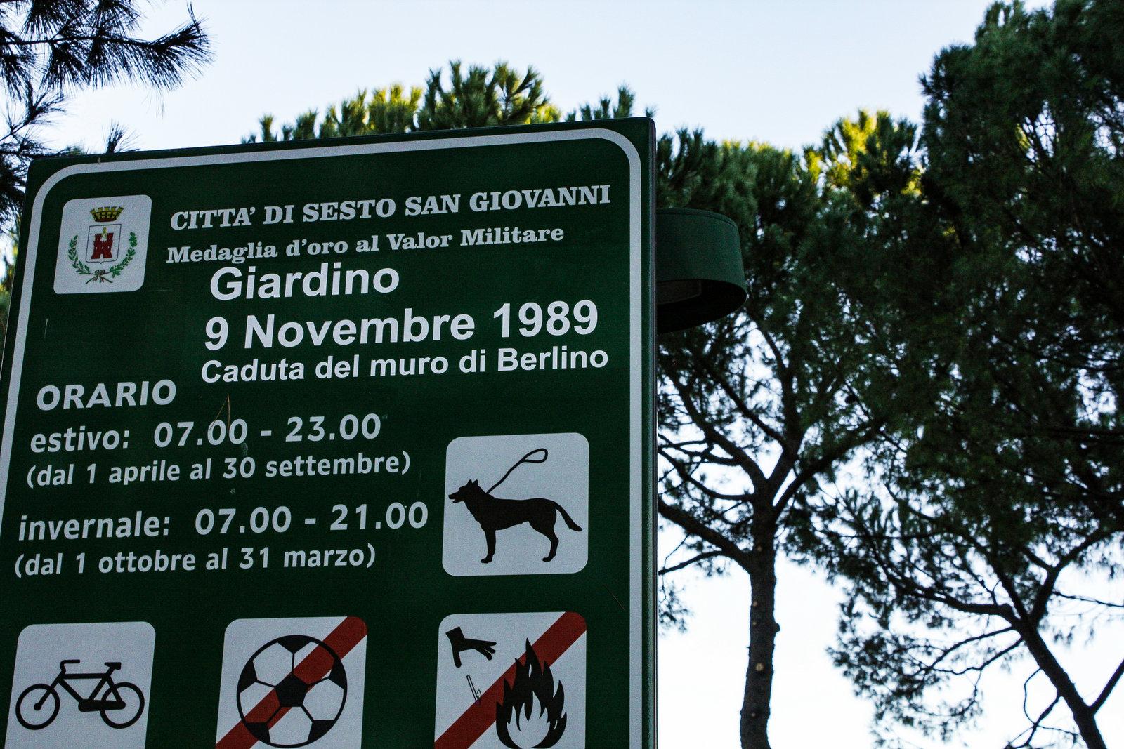 "Parco ""9 novembre 1989 - Caduta del Muro di Berlino"""