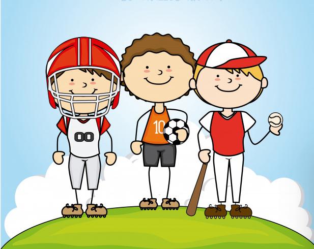 3 ragazzi che fanno sport