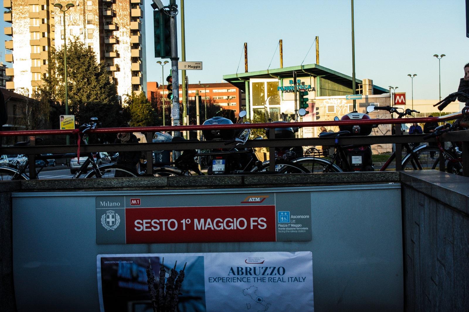 Ingresso stazione M1 - Sesto FS