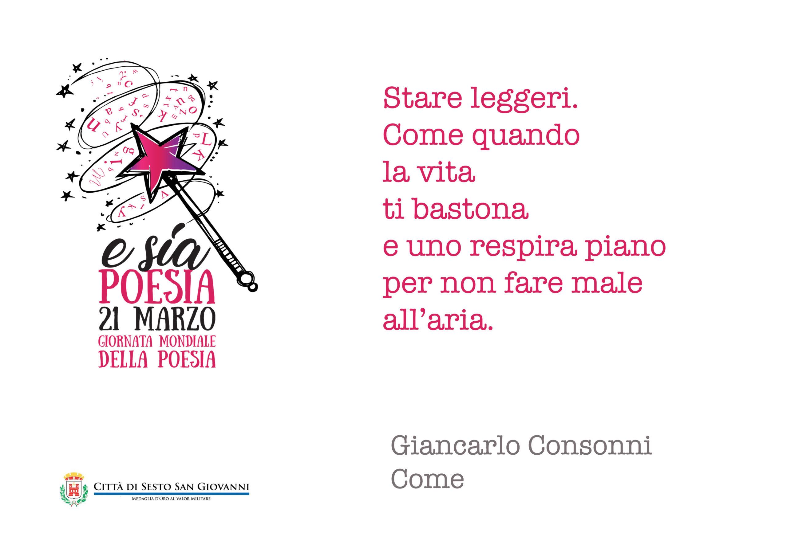 e sia poesia- stare leggeri di Giancarlo Consonni