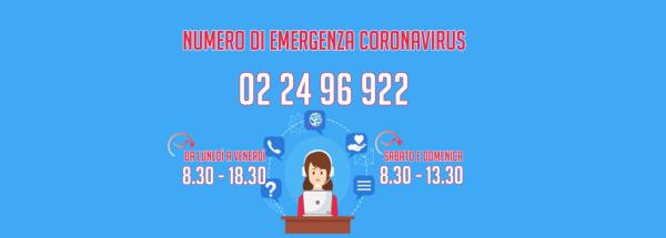 Attivo il numero del Comune per l'emergenza Coronavirus