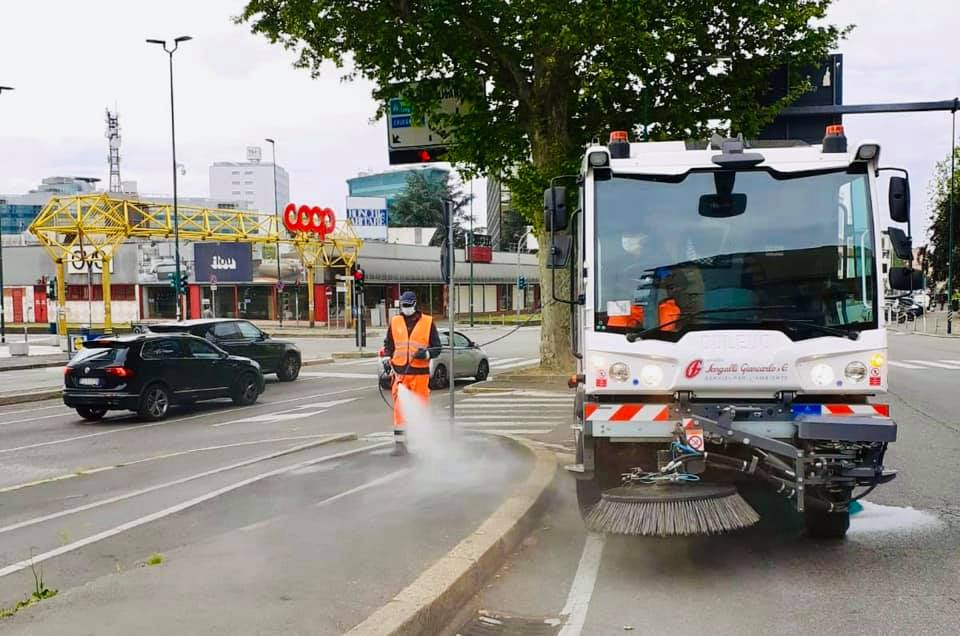 Parte l'igienizzazione delle strade in Città