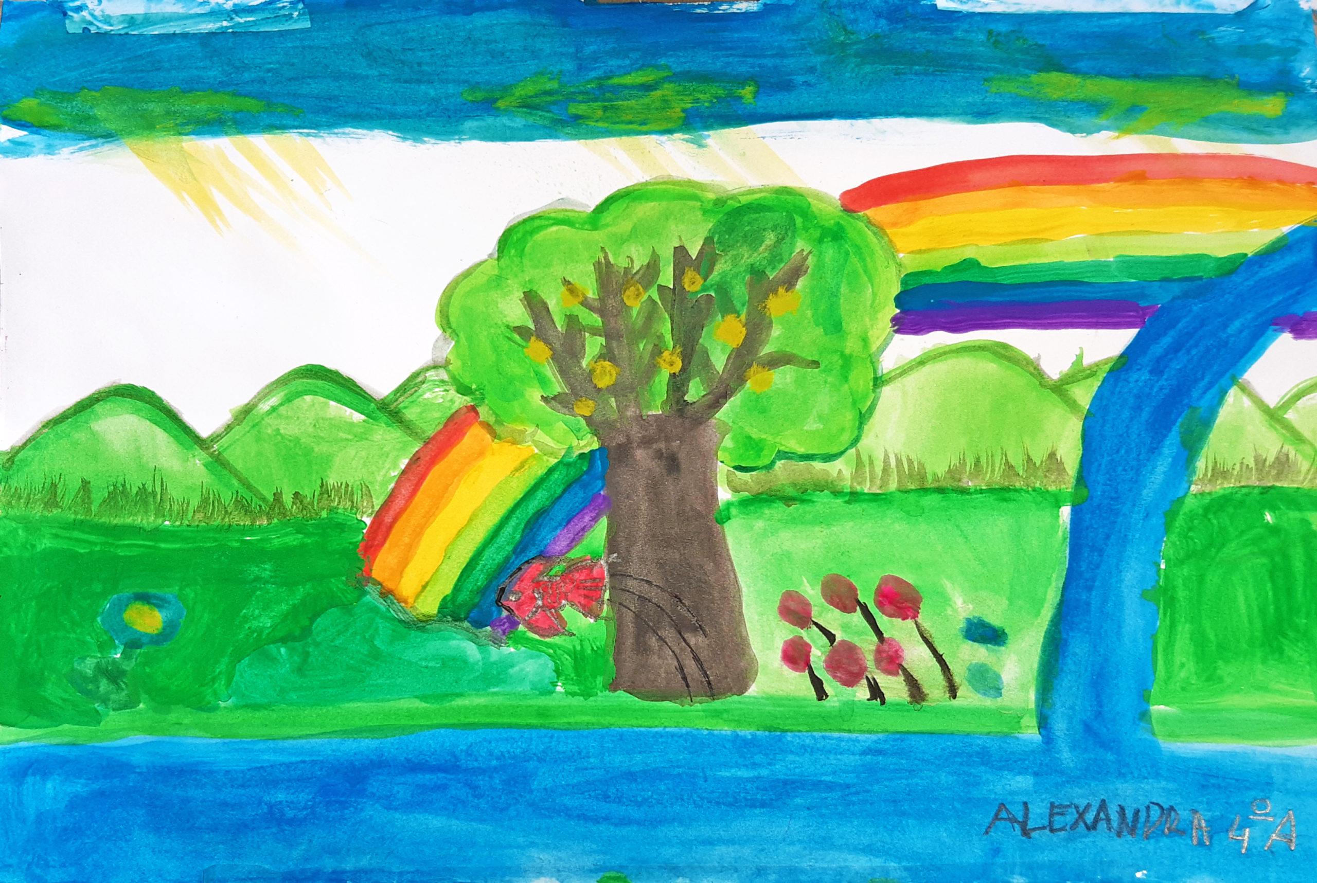 Questo disegno lo ha fatto Alexandra (9 anni)