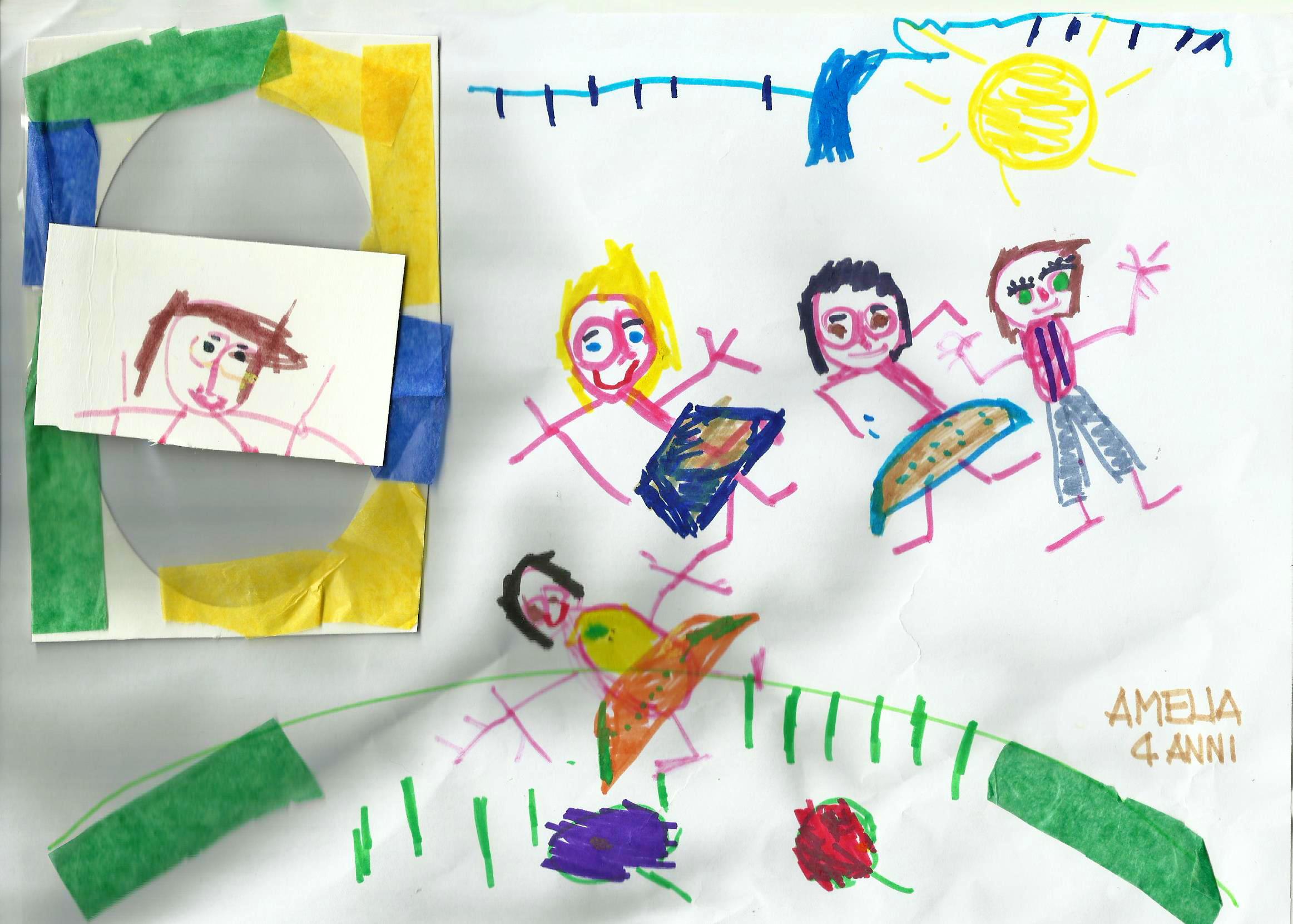 Questo disegno lo ha fatto Amelia (4 anni)