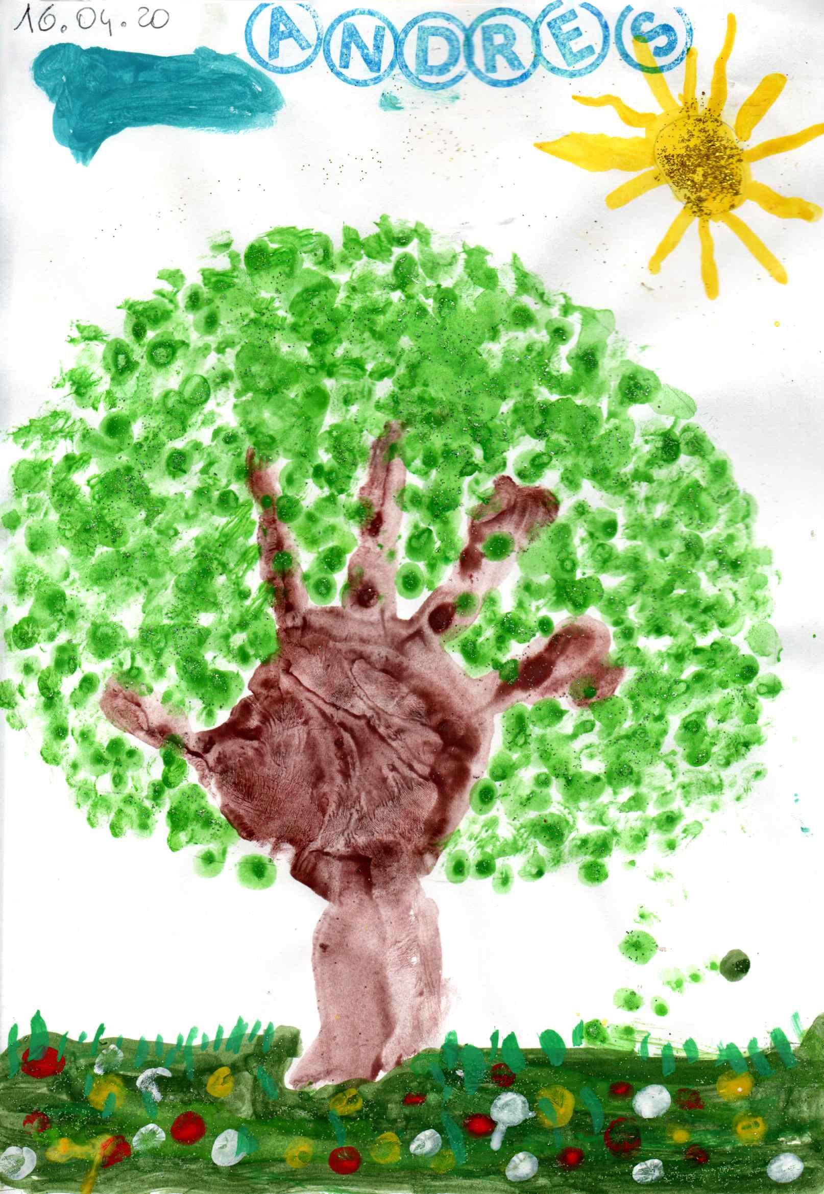 Questo disegno lo ha fatto Andres (3 anni)