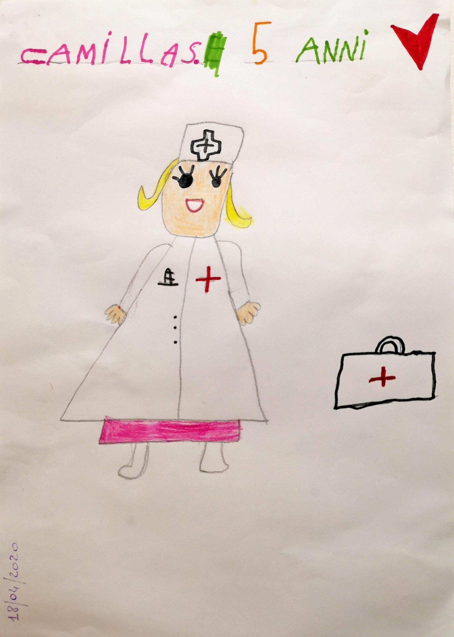 Questo disegno lo ha fatto Camilla (5 anni)