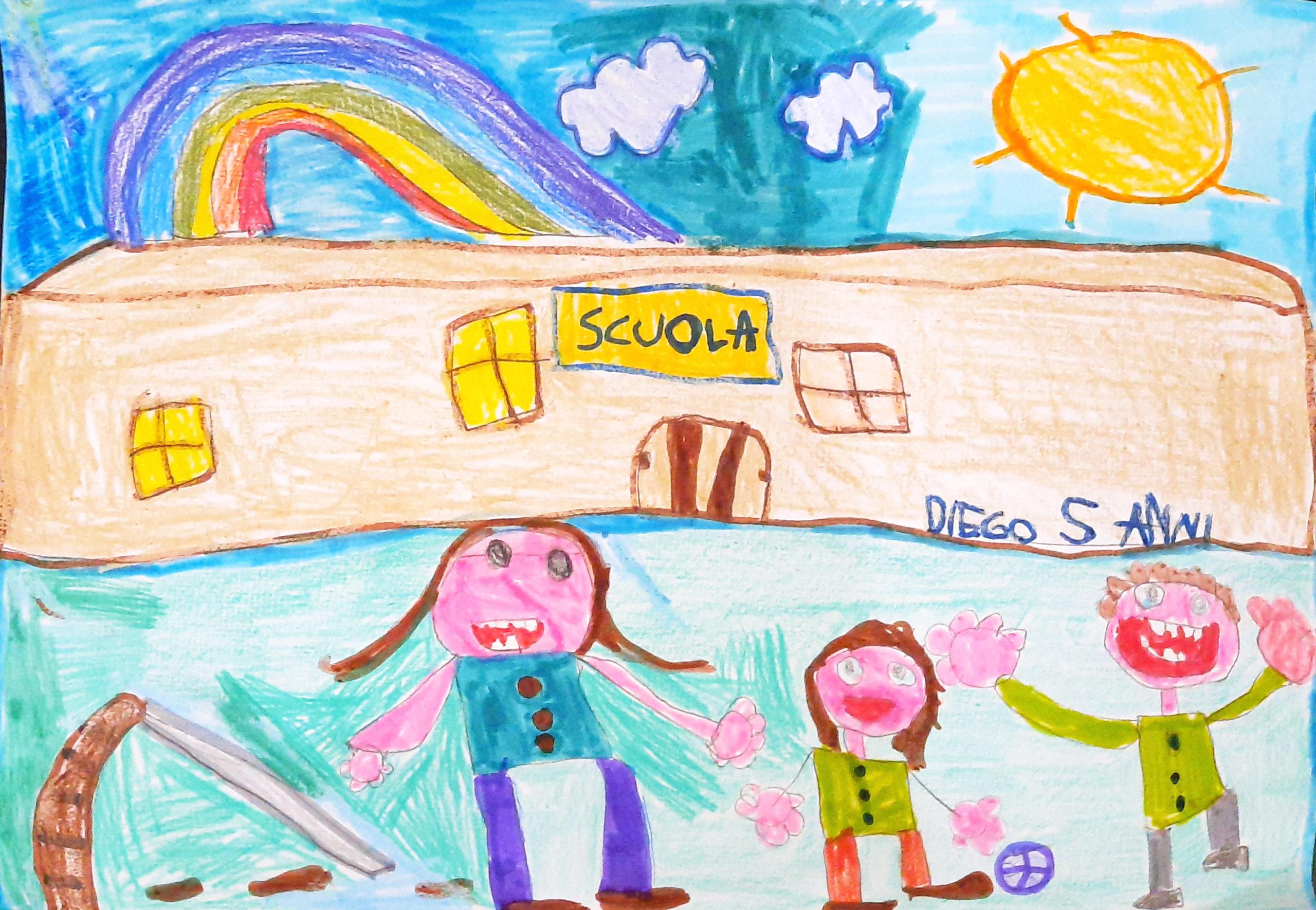 Questo disegno lo ha fatto Diego (5 anni)