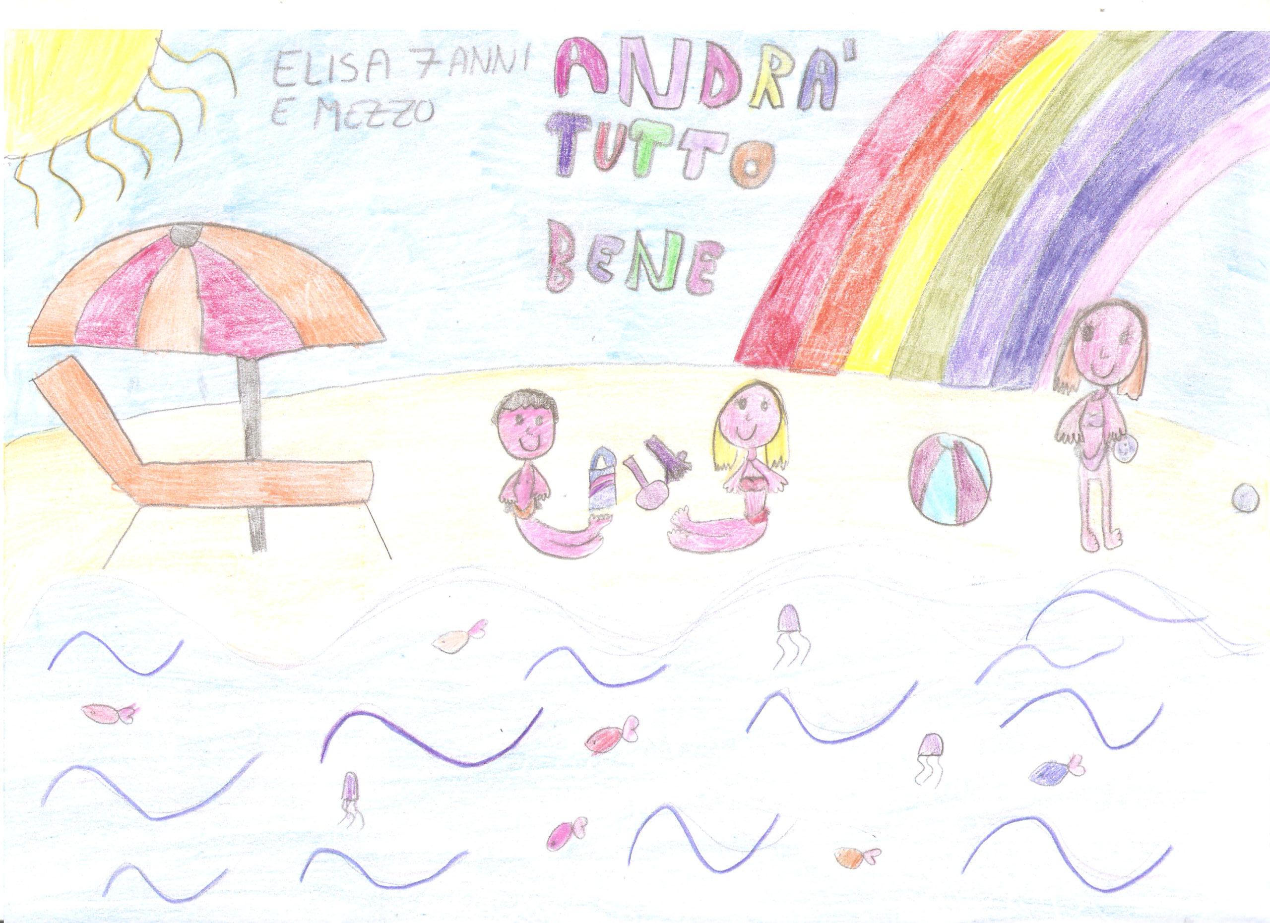 Questo disegno lo ha fatto da Elisa (7 anni e mezzo)