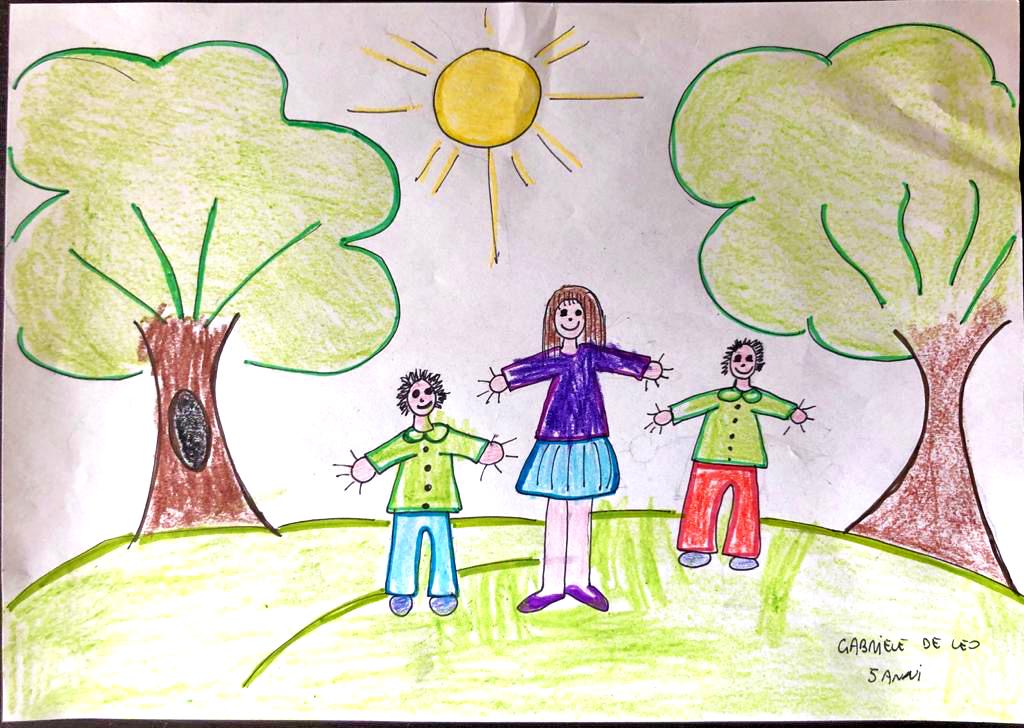 Questo disegno lo ha fatto Gabriele (5 anni)