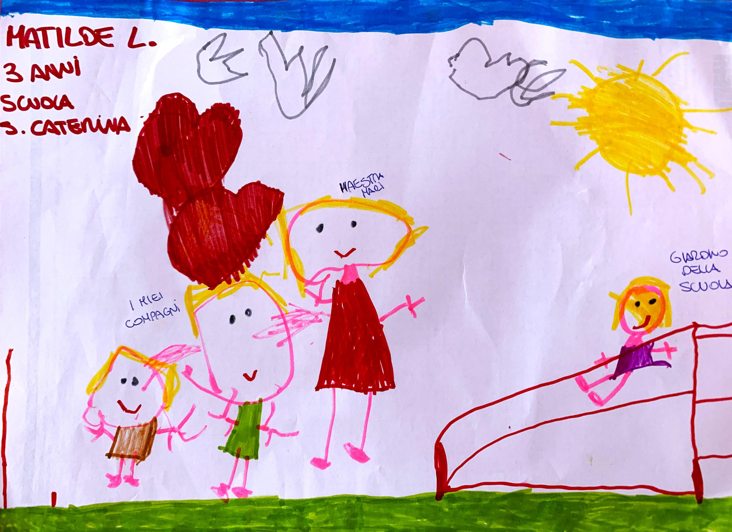 Questo disegno lo ha fatto Matilde (3 anni)