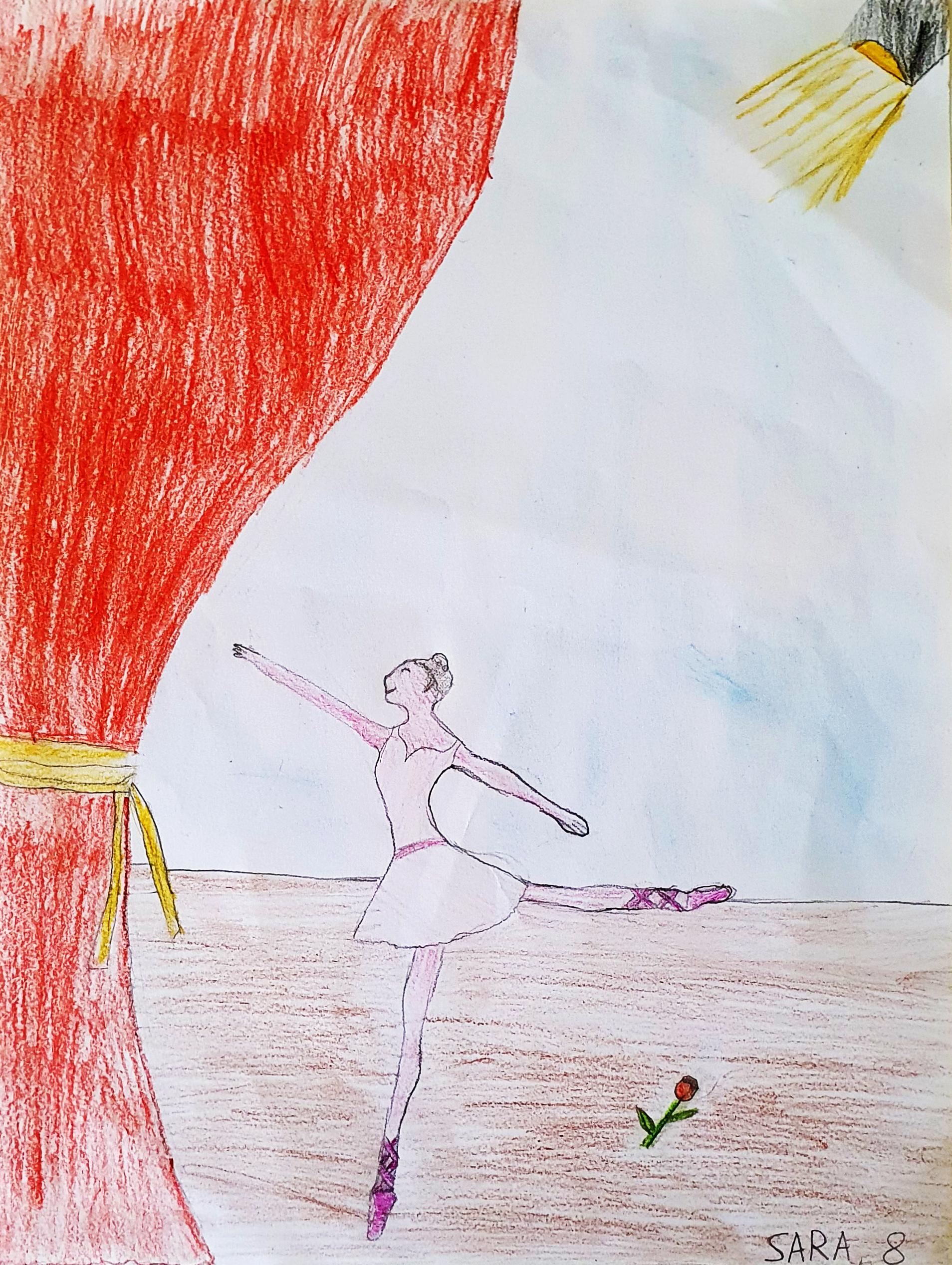 Questo disegno lo ha fatto Sara (8 anni)