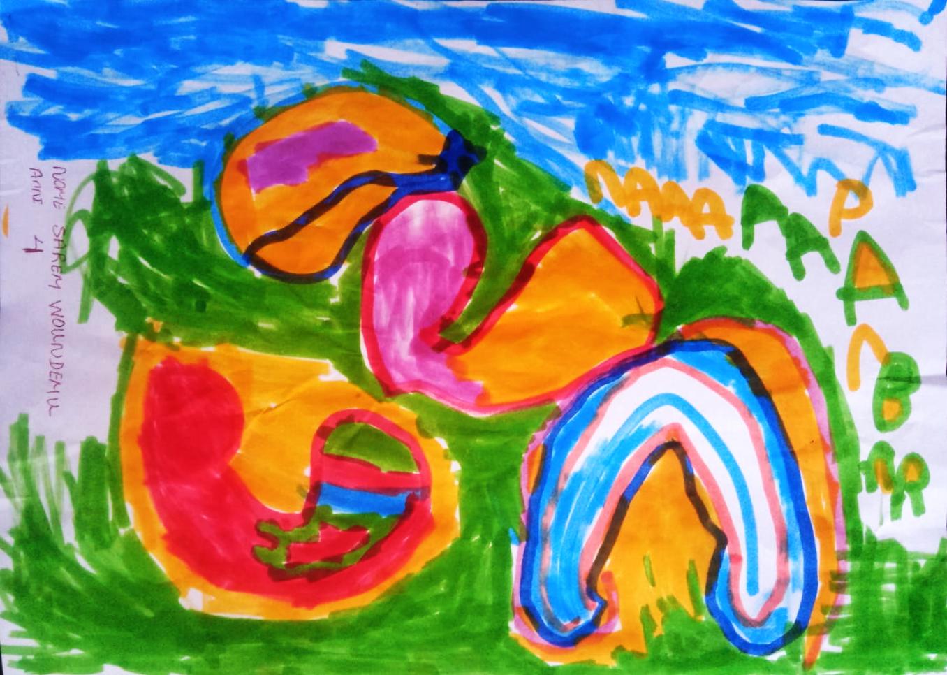 Questo disegno lo ha fatto Sarem (4 anni)