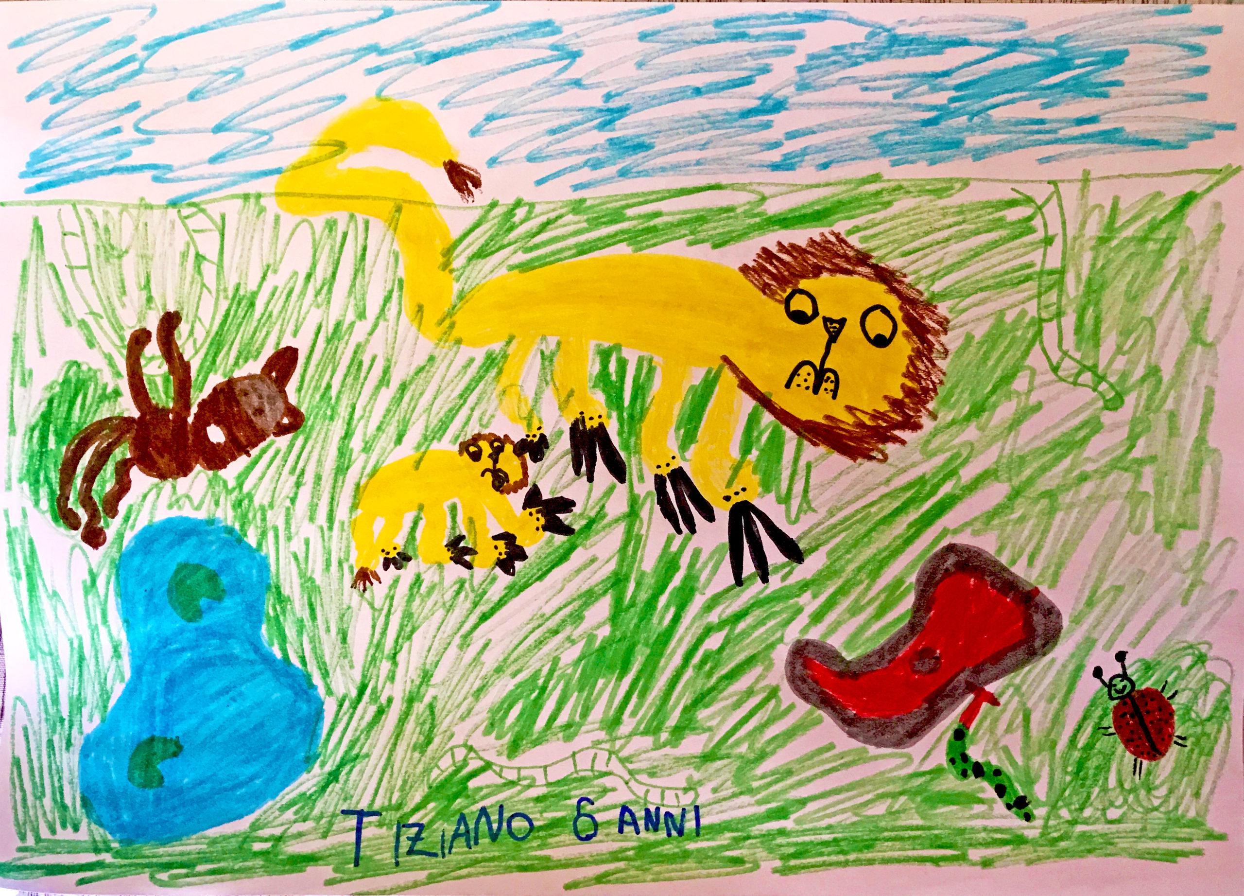 Questo disegno lo ha fatto Tiziano (6 anni)