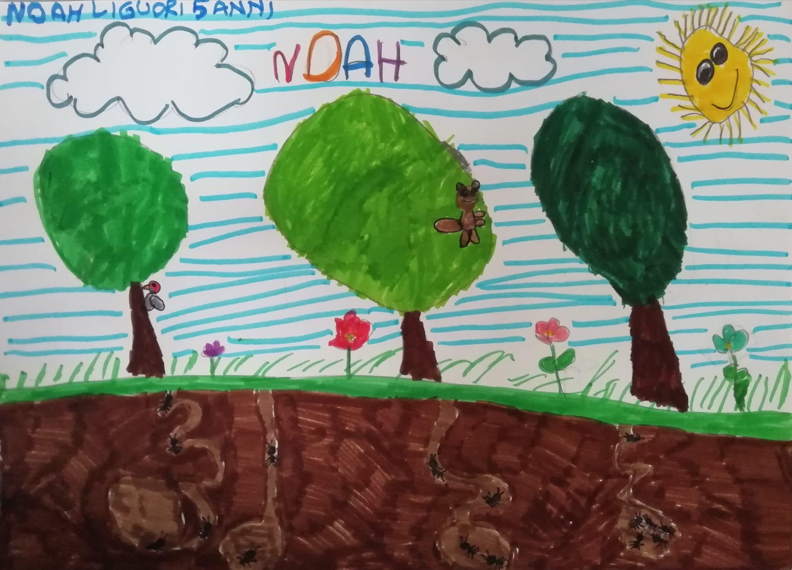 Questo disegno lo ha fatto Noah (5 anni)