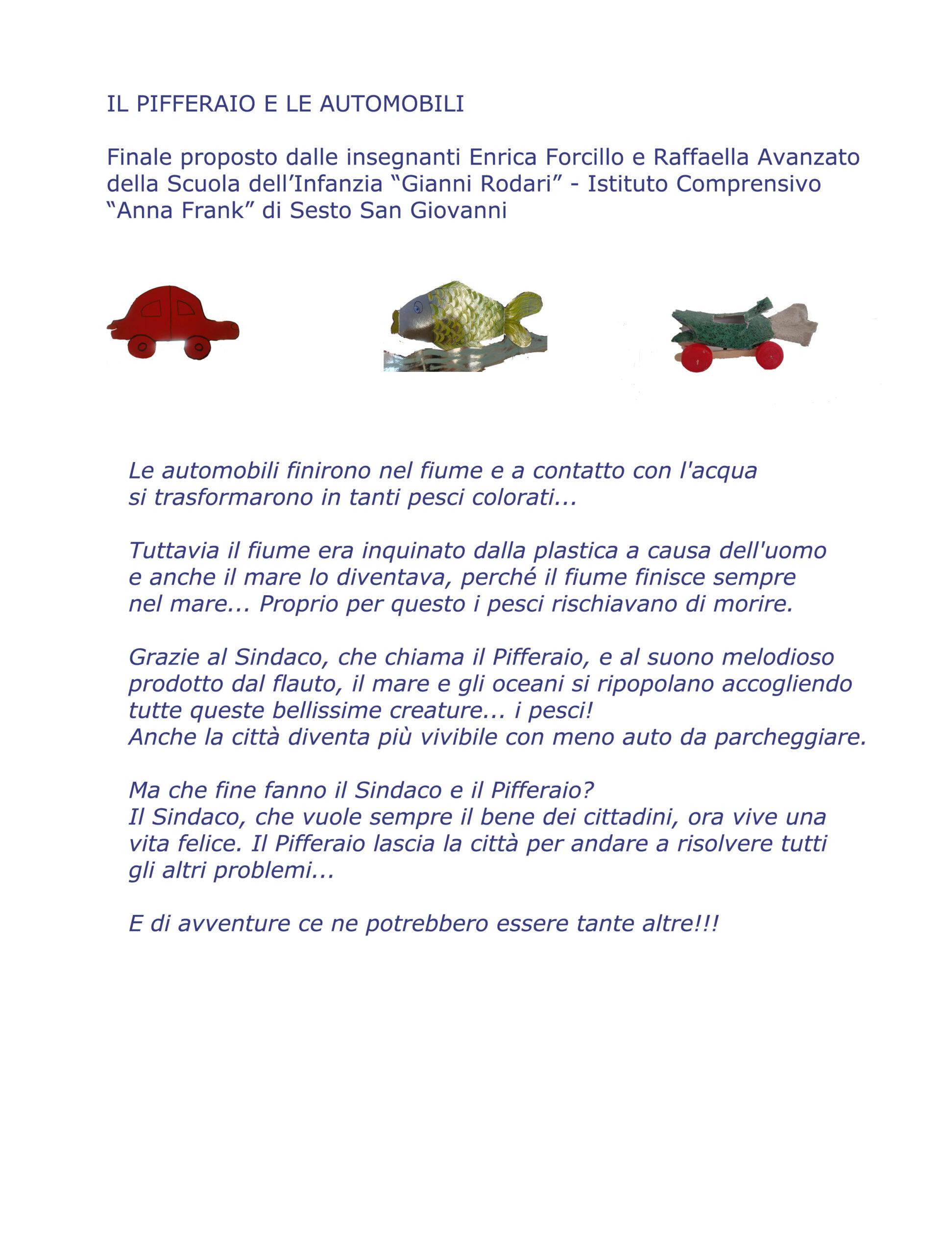 Storia Pifferaio scuola Gianni Rodari