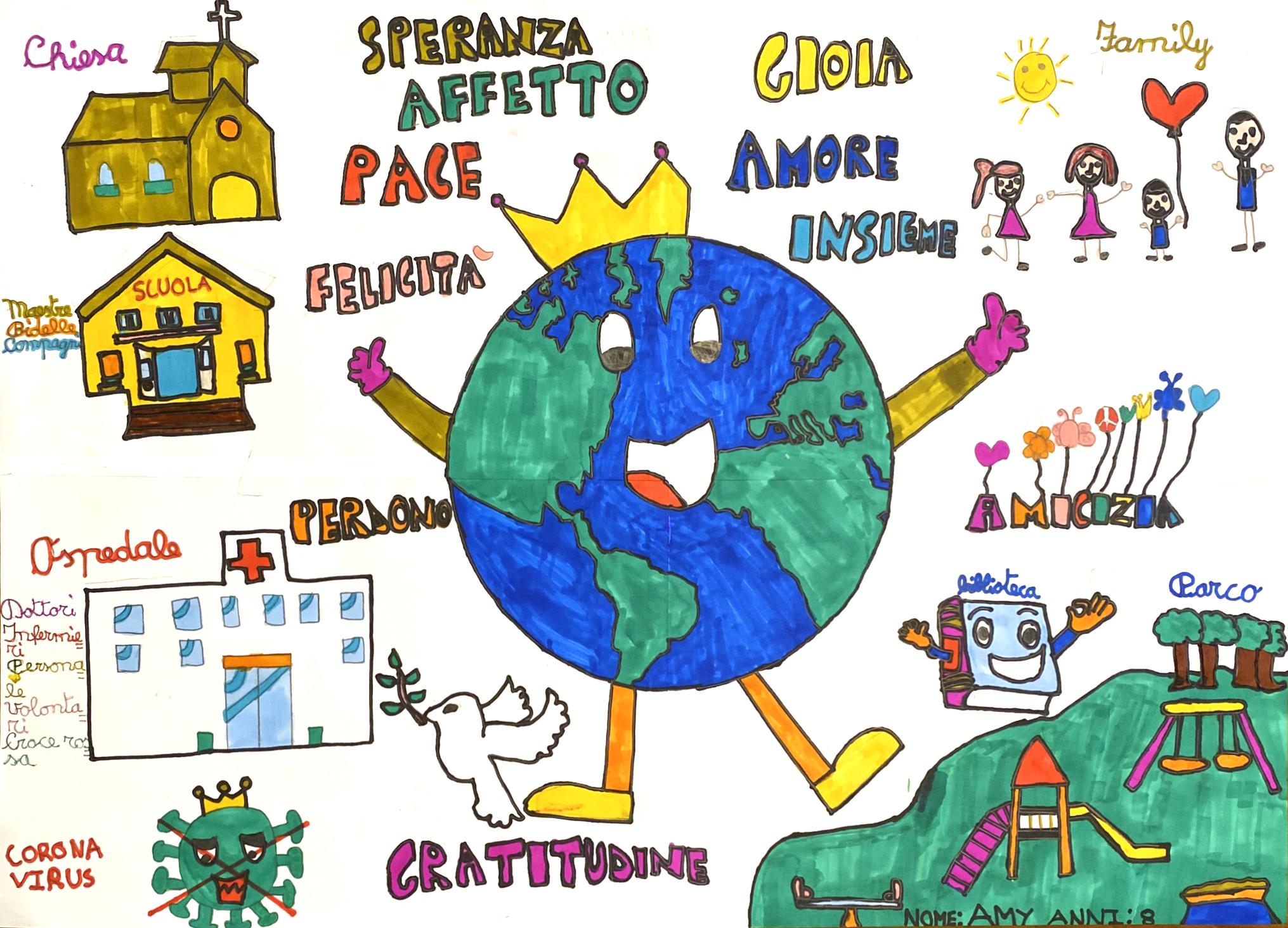 Questo disegno lo ha fatto Amy Sophie (8 anni)