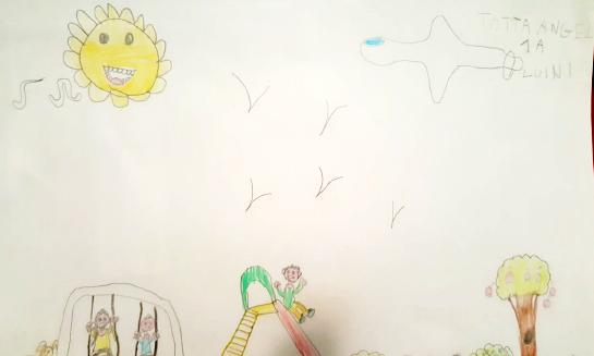 Questo disegno lo ha fatto Angel (6 anni)