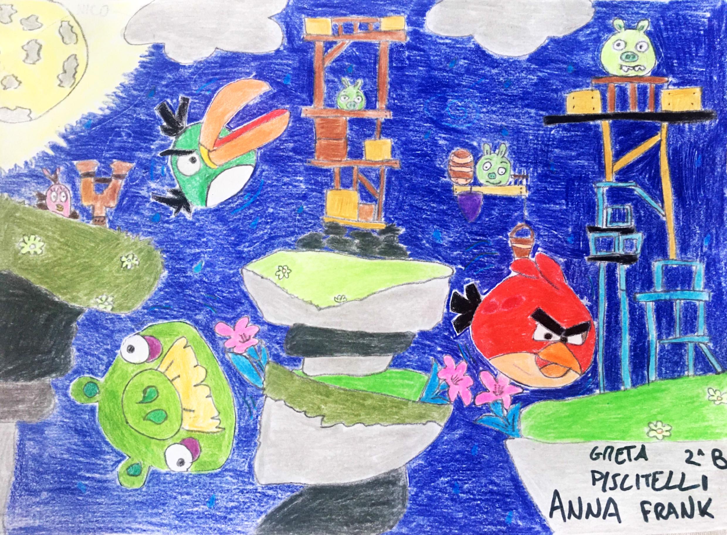 Questo disegno lo ha fatto Greta (7anni)