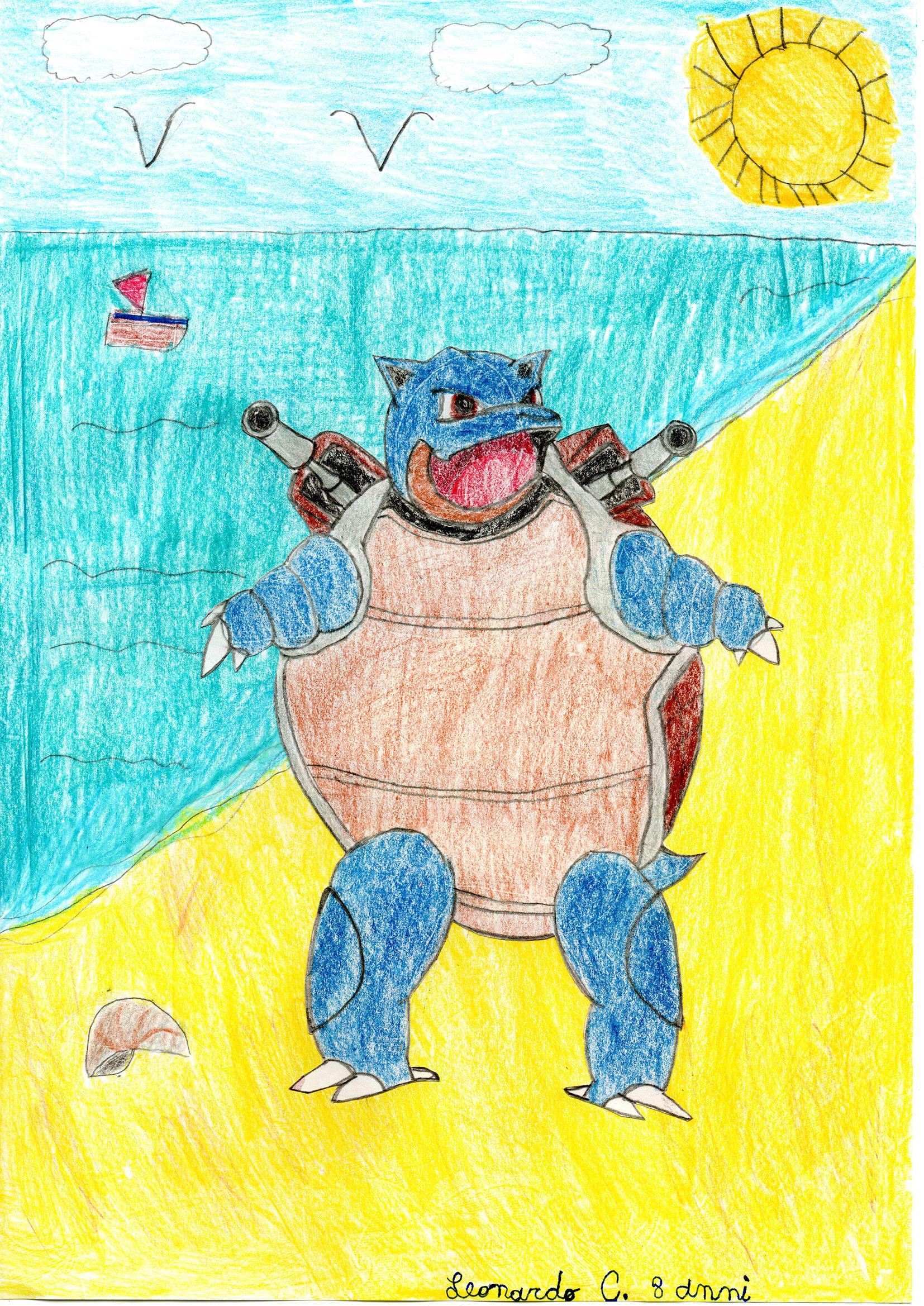 Questo disegno lo ha fatto Leonardo (8 anni)