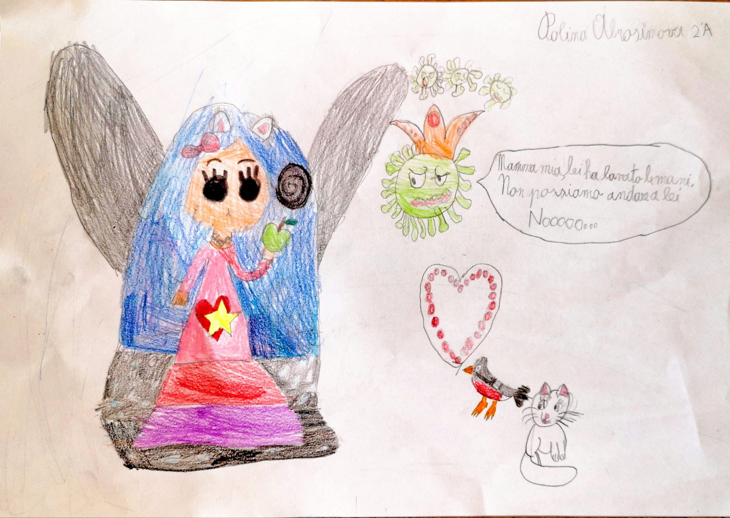 Questo disegno lo ha fatto Polina (7 anni)