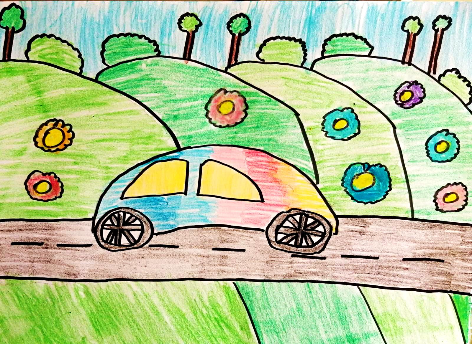 Questo disegno lo ha fatto Ayman Mohamed (9 anni)