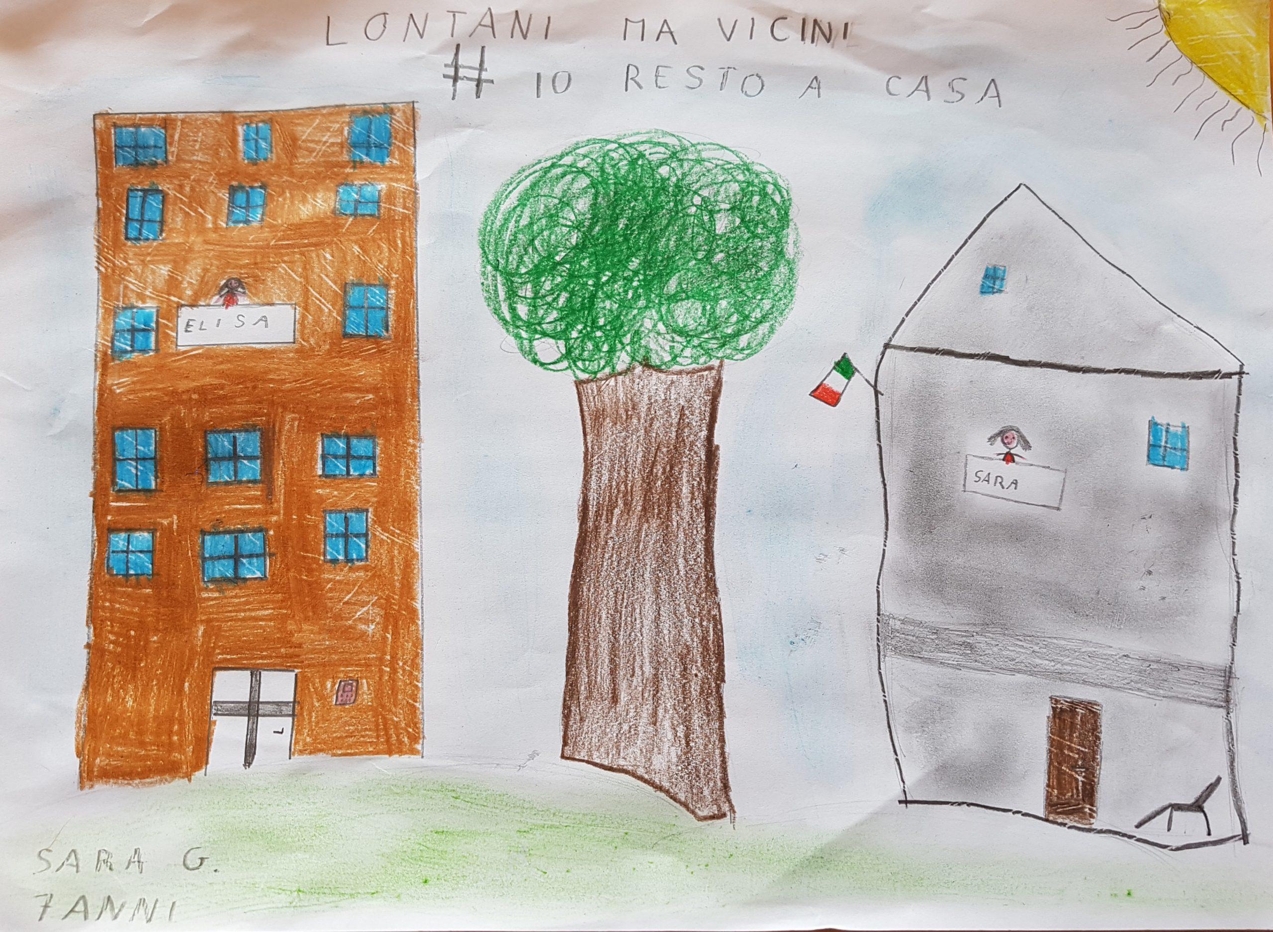 Questo disegno lo ha fatto Sara (7 anni)