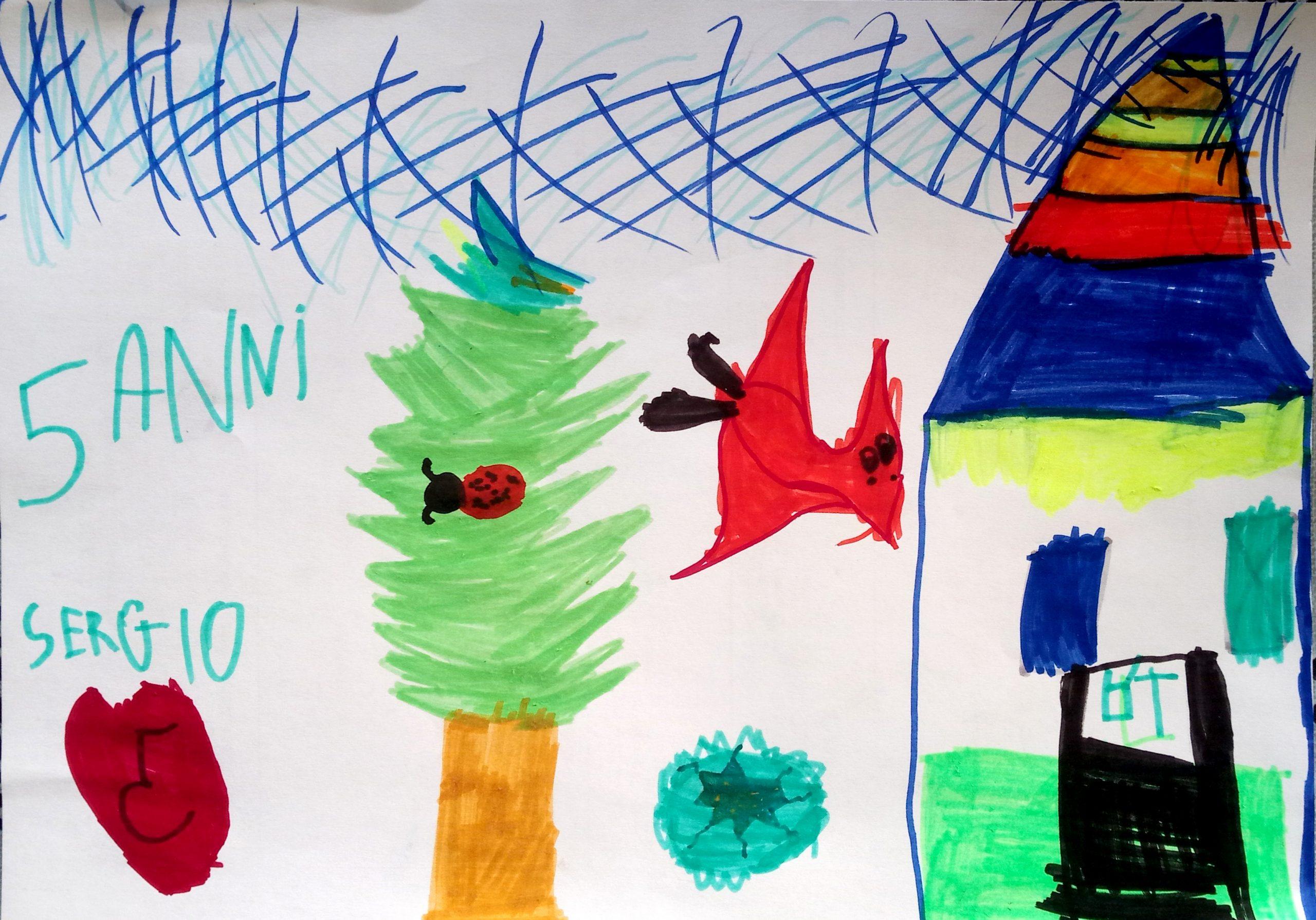 Questo disegno lo ha fatto Sergio (5 anni)