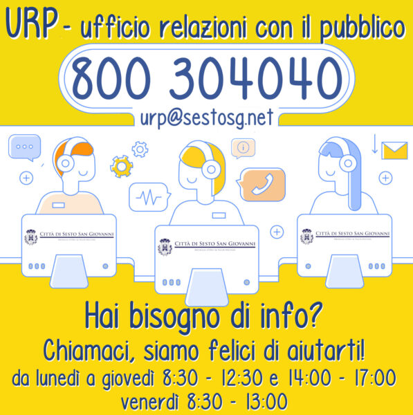Hai bisogno d'aiuto? Chiedi all'URP!