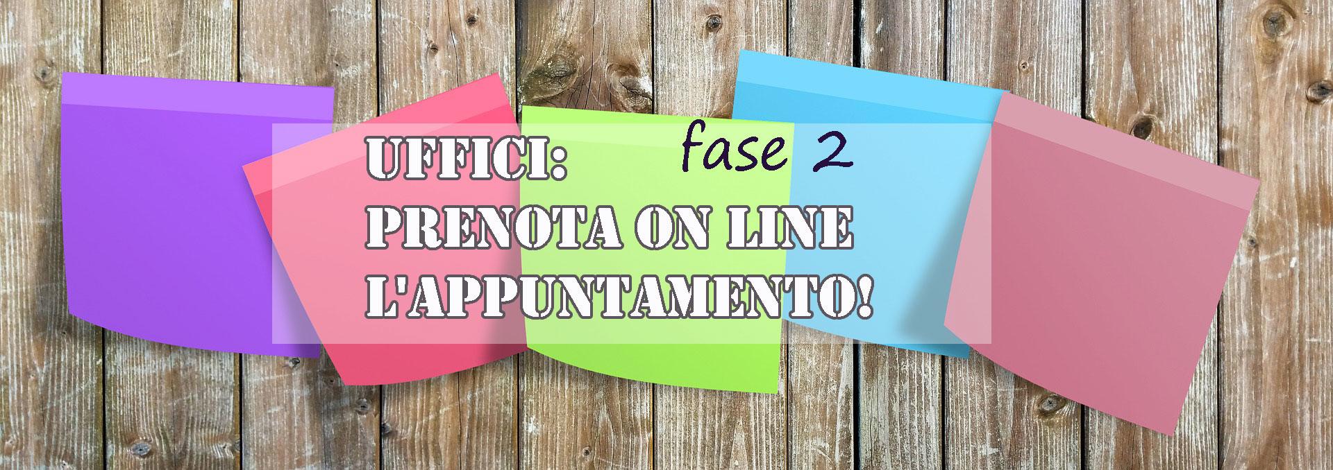 uffici fase 2 prenota on line locandina