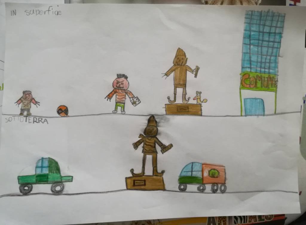 disegno bambini pifferario rodari