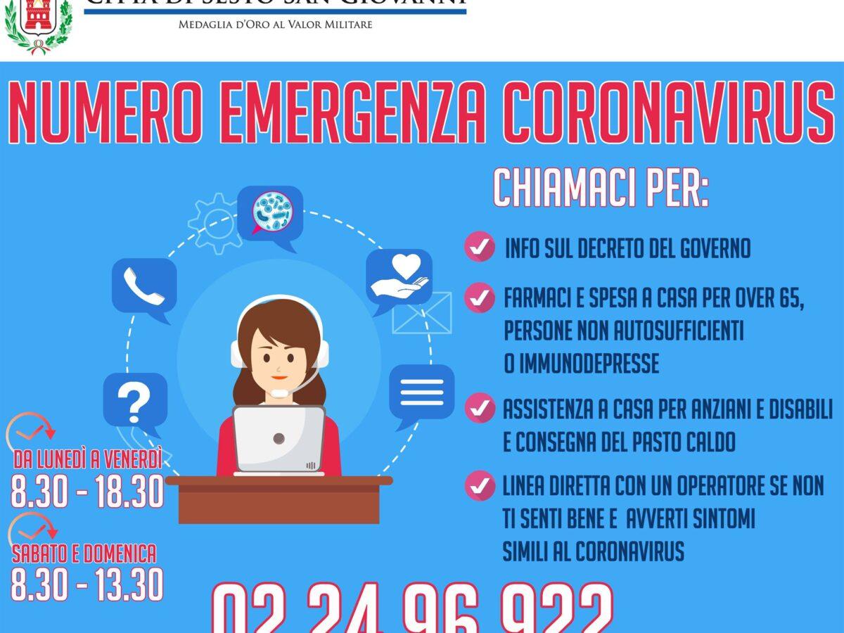 Numero emergenza Covid 022496922