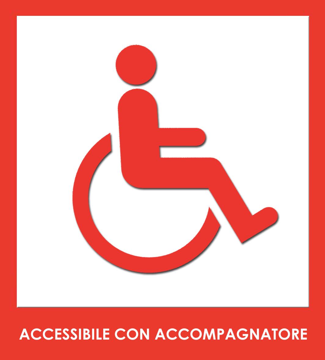 accessibile con accompagnatore