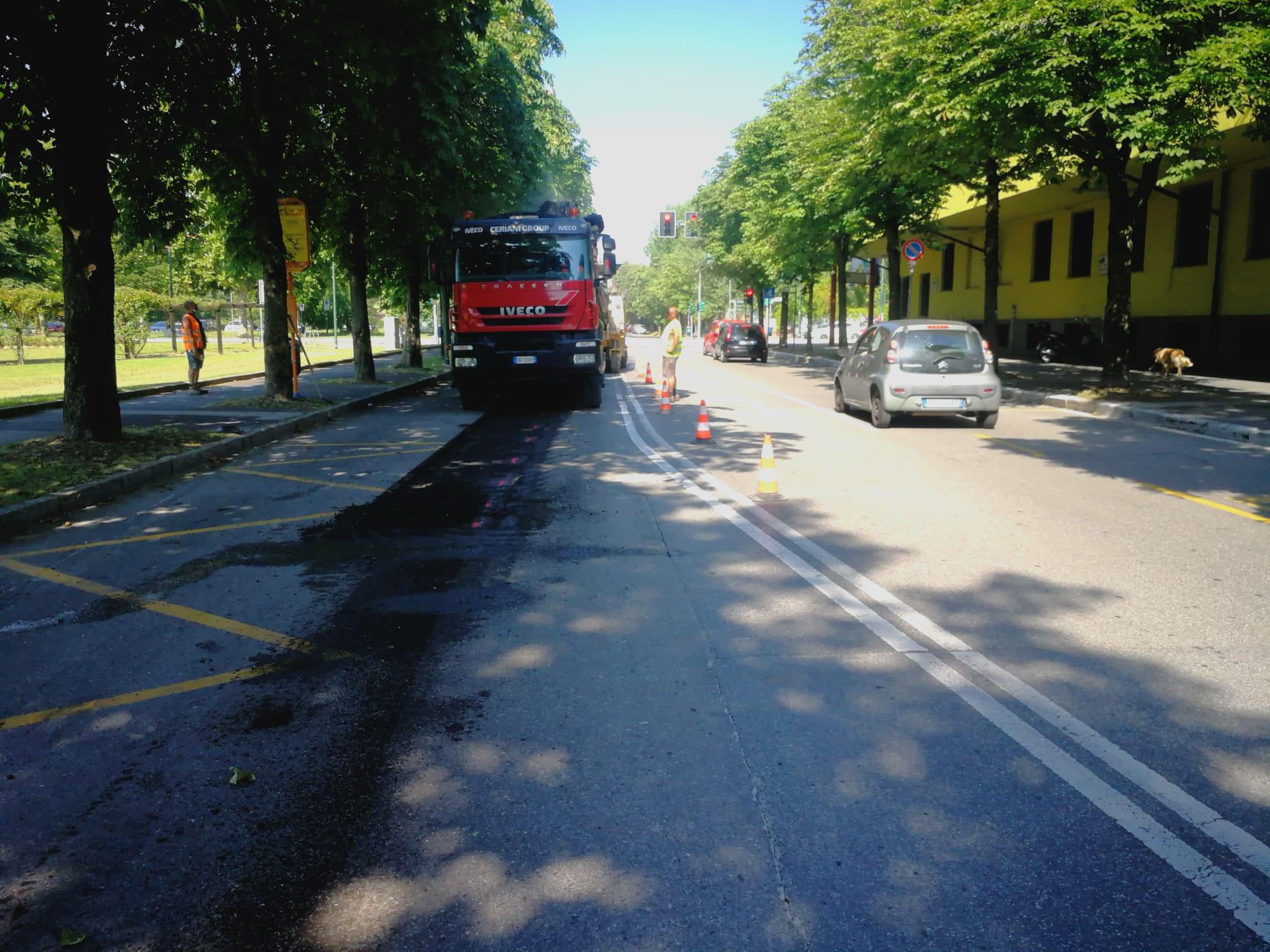 via volontari del sangue -asfaltatura 2020