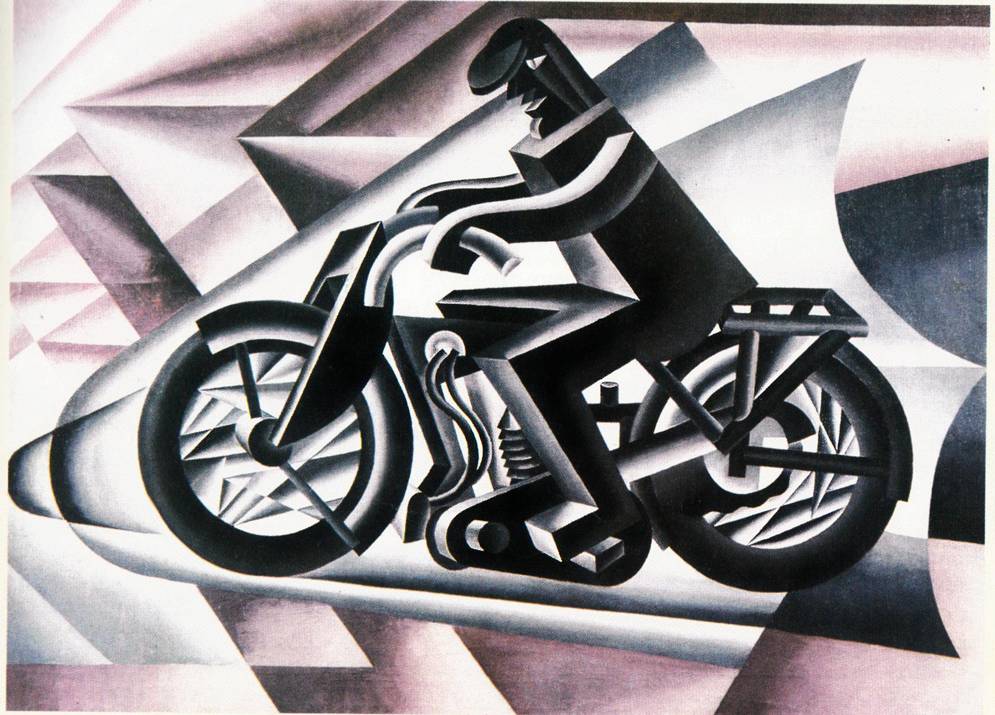 Fortunato_Depero_Il_motociclista