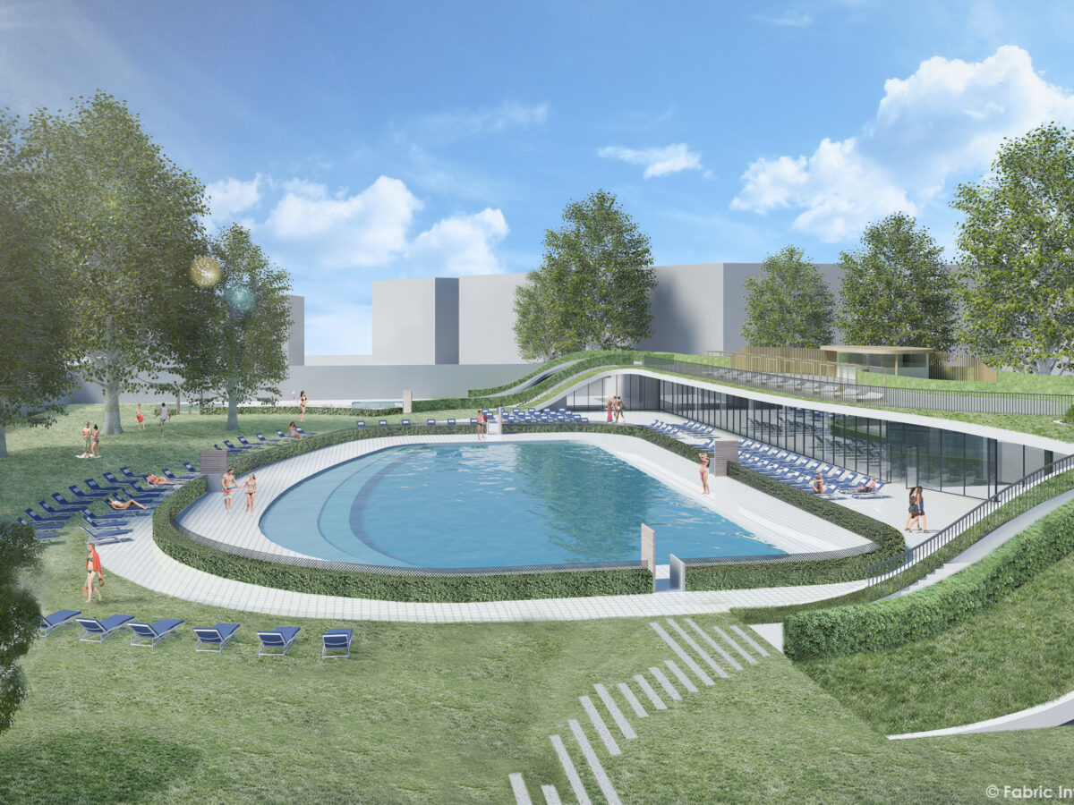 piscina Longo rendering