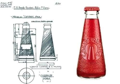 bottiglietta Campari Depero
