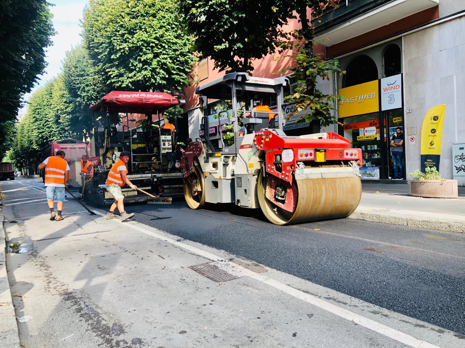 asfalto via Rovani-2020