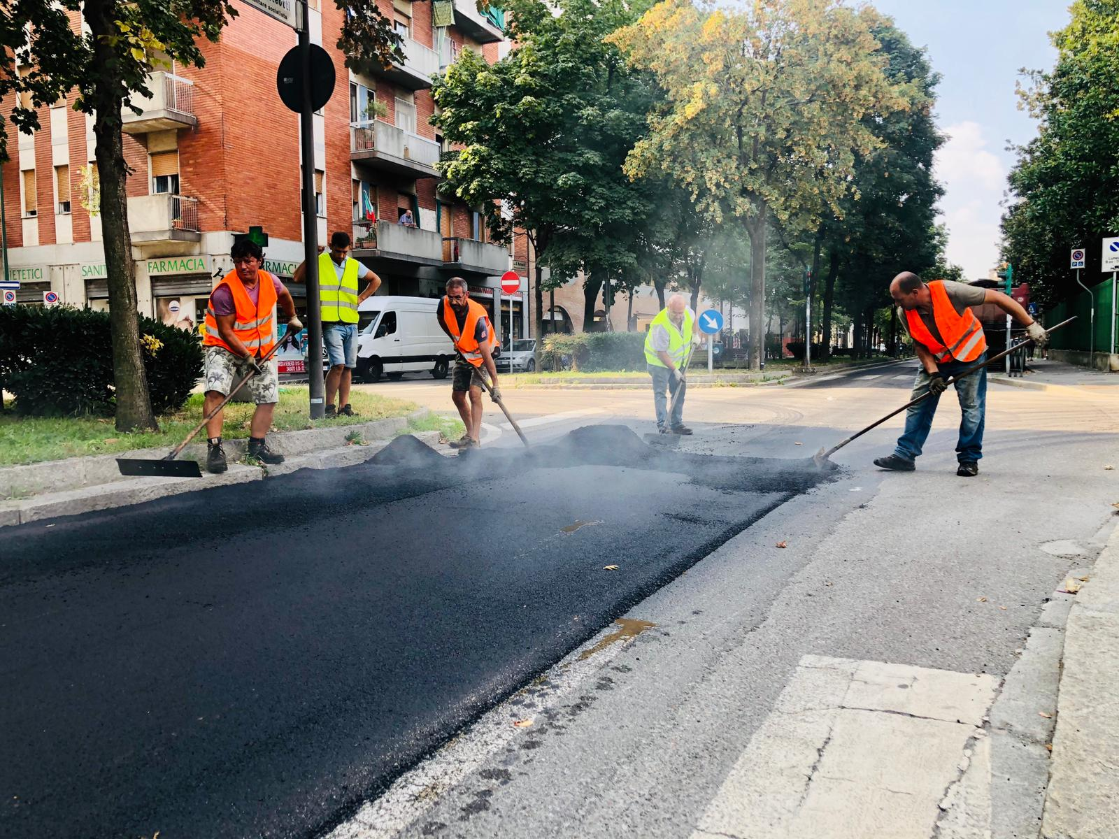 asfaltatura via Matteotti 2020