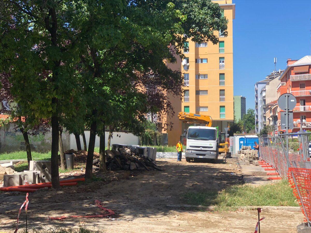 avanzamento lavori in via Piacardi 2020