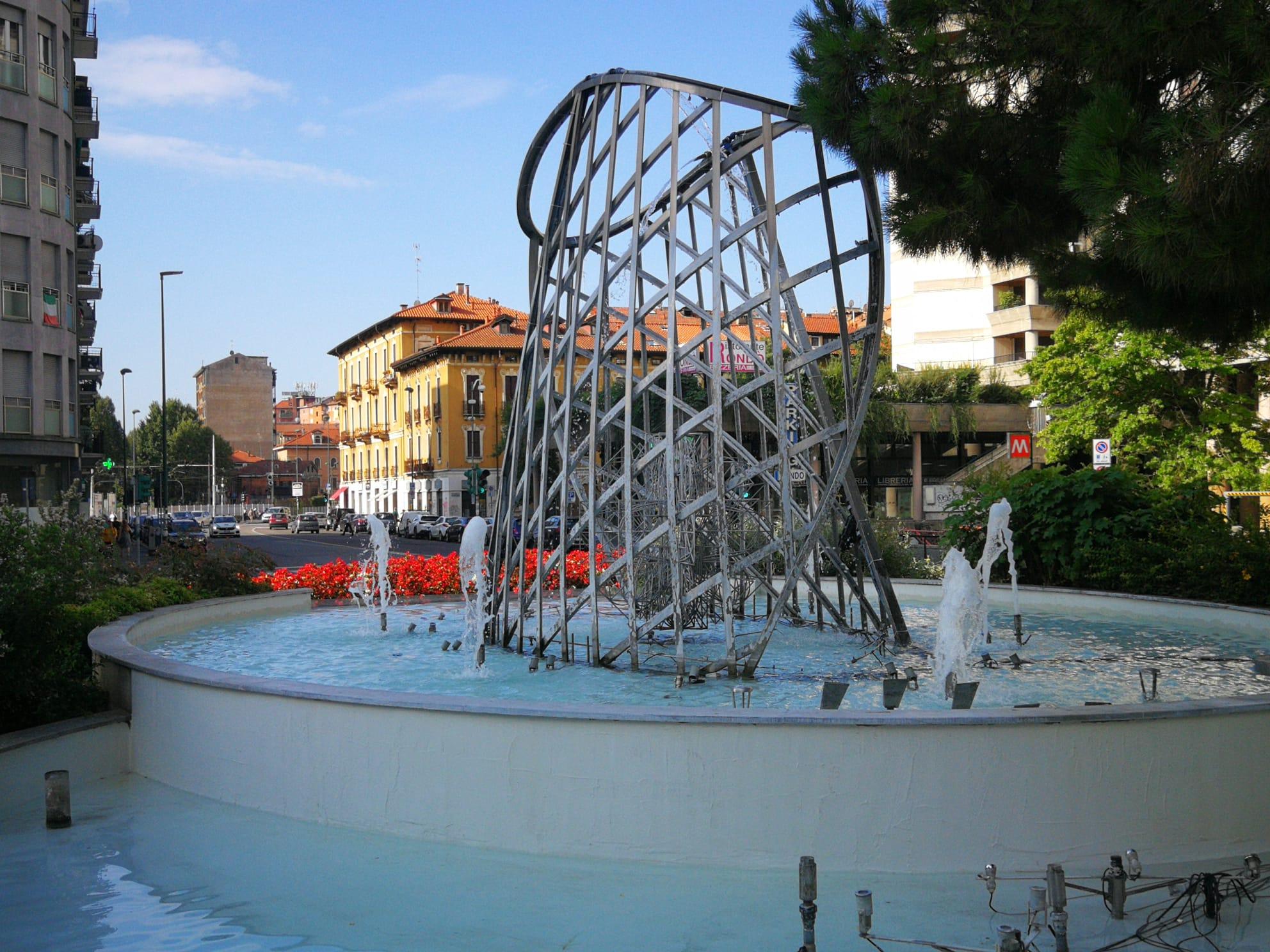 fontana IV Novembre (pompe in manutenzione)