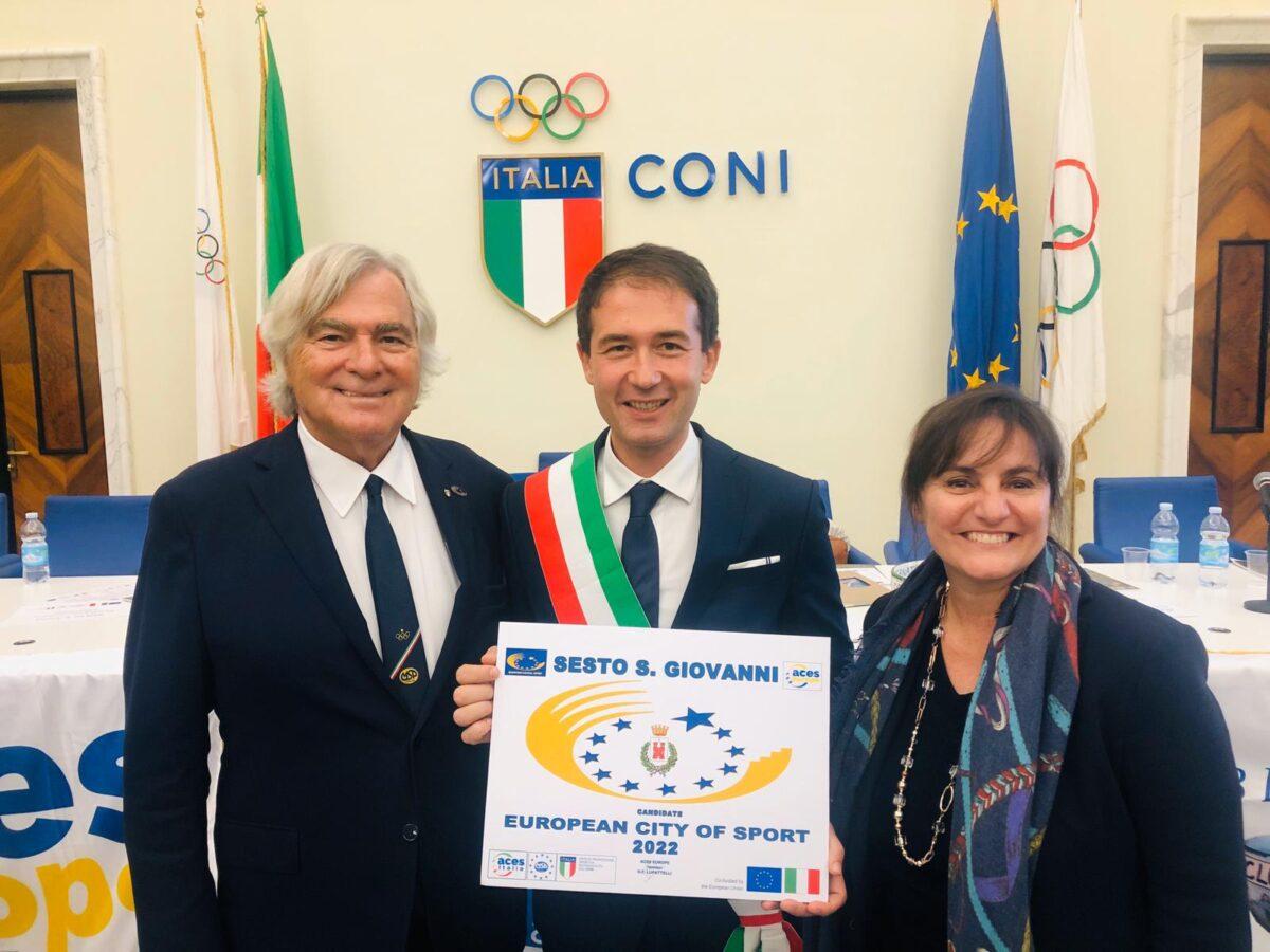 2019 -consegna targa di candidatura a Città Europea dello Sport 2022