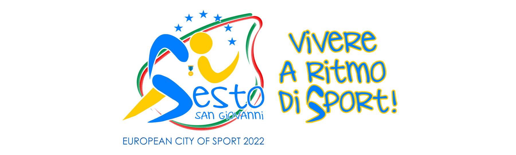 Il logo e il claim della candidatura a Città Europea dello Sport 2022