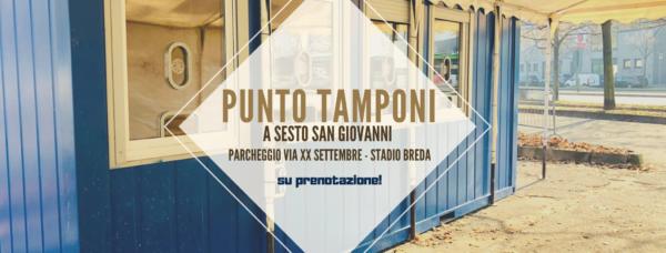 Punto tamponi drive-in a Sesto San Giovanni