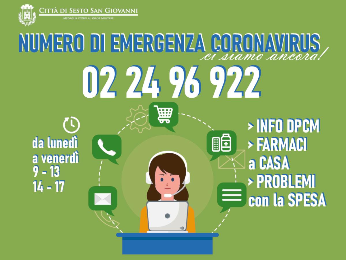 Numero emergenza Coronavirus