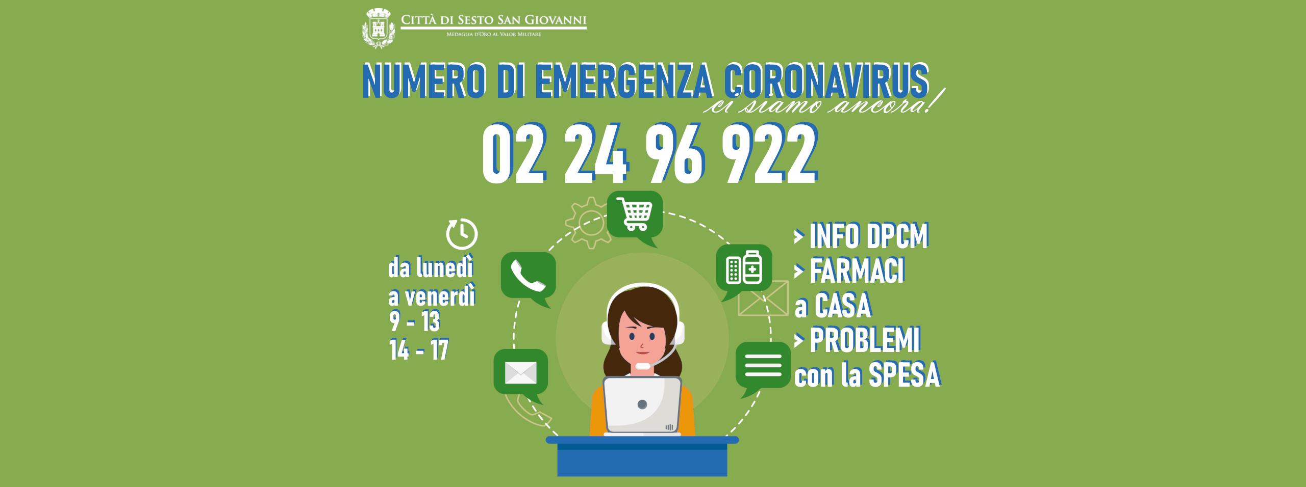locandina numero emergenza coronavirus 022496922