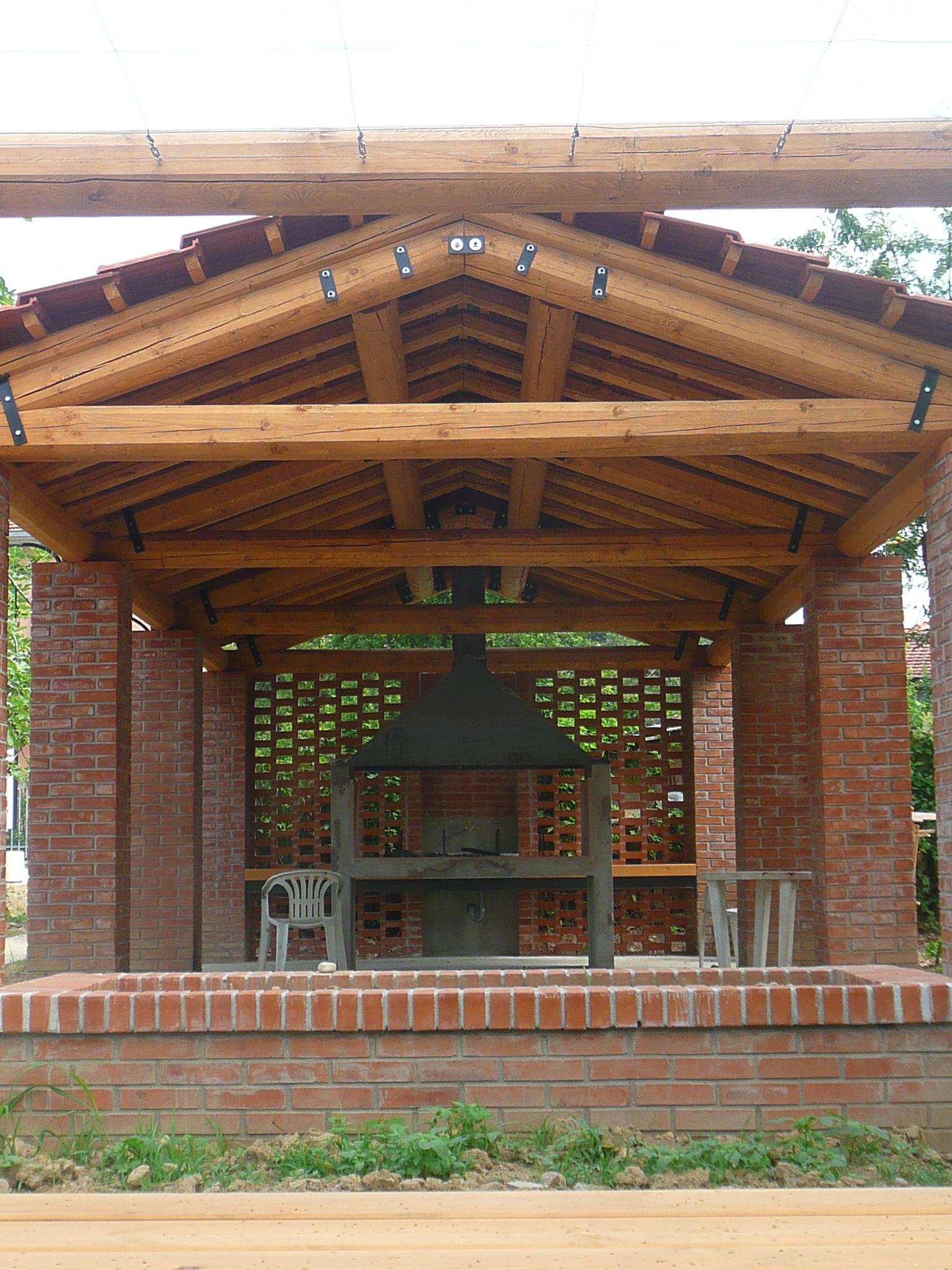 Pergola barbecue al Giardino degli orti
